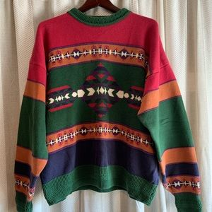 Vintage Colorblock Aztec Sweater